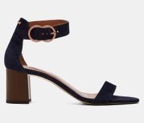 Wildleder-sandalen Mit Blockabsatz