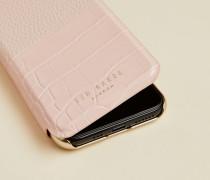 Iphone 11 Pro Hülle mit Krokoprägung und Umschlagklappe