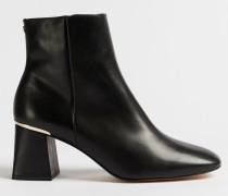 Square Toe Block Heel Boots