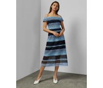 Bardot-Kleid mit Spitze