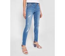 Skinny-jeans Mit Destroyed-detail