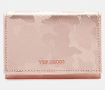 Kleines Leder-portemonnaie Mit Camouflagemuster