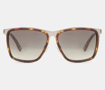 Viereckige Sonnenbrille aus Metall