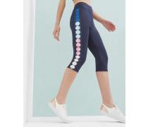 Gekürzte Leggings mit Marina Mosaic-Print
