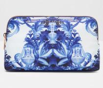 Kleine Kosmetiktasche mit Persian Blue-Print