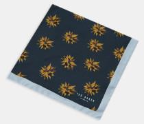 Seiden-Einstecktuch mit Geometrischem Blumen-Print