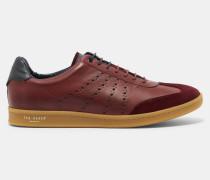 Leder-Sneakers mit Cupsohle