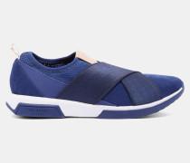 Wildleder-sneakers Mit Überkreuzten Riemen