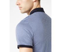 Baumwoll-Polohemd mit Punkte-Print