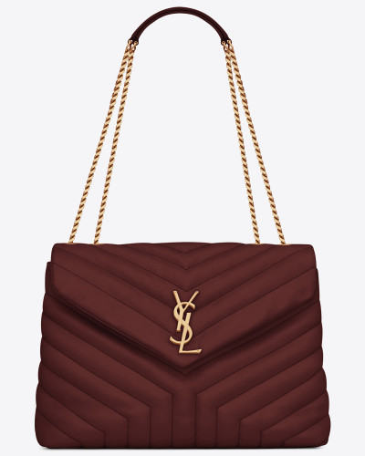 "Medium Loulou chain bag in ""Y""-quilted leather"
