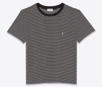 striped monogram t-shirt