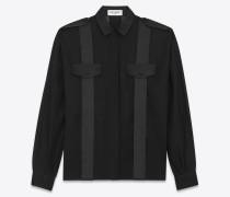 Shirt aus Baumwollvoile mit weiten Ärmeln und Satindetails