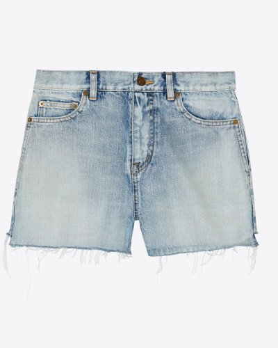 Baggy-Shorts aus blauem Sunset-Denim