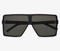 Sonnenbrille NEW WAVE 183 BETTY SMALL aus schwarzem Acetat mit grauen Gläsern