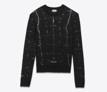 black déjaugé crewneck sweater