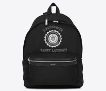 city saint laurent université rucksack in schwarz und weiß
