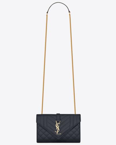 ENVELOPE small bag in grain de poudre embossed leather