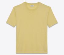 Anliegendes SL T-Shirt aus gelbem Baumwolljersey