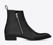 Wyatt 30 Stiefel aus schwarzem Leder mit Reißverschluss