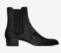 Wyatt Chelsea Boots In Pony-Effect Leather Schwarz