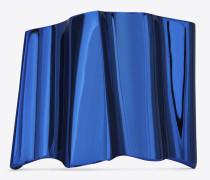 Babylone Ear Cuff aus metallic-blauem Messing