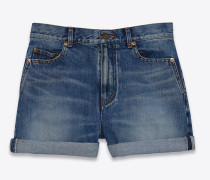 weite shorts in vintage-blau