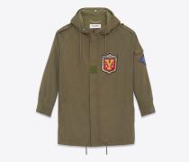 Army-Parka aus khakifarbenem Baumwolltwill