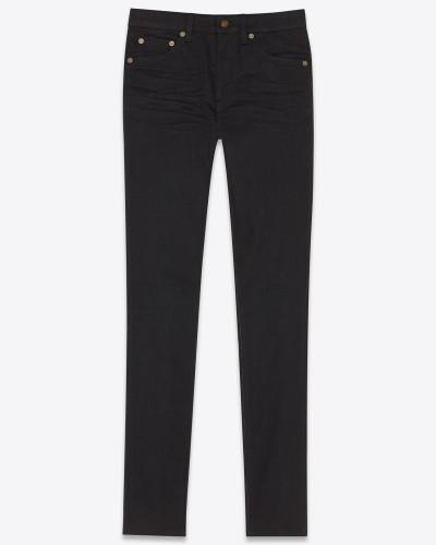 Skinny Jeans aus schwarzem Stretchdenim mit mittlerer Leibhöhe