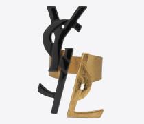 monogram dekonstruierte ringe in grau und altgold