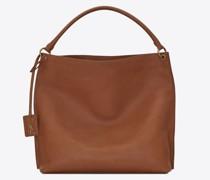 Tag Hobo-Bag aus Glattem, Sattelartigem Leder Amber