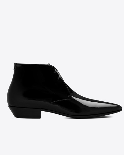 JONAS Laced boots in patent leather