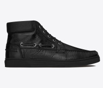 medium-high joe sneakers in black moroder leather
