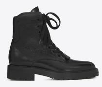 WILLIAM 25 Stiefel aus schwarzem Leder mit Reißverschluss vorne