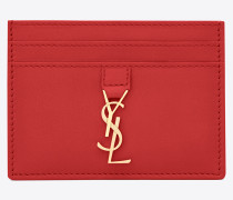 ysl-kreditkartenetui aus rotem leder