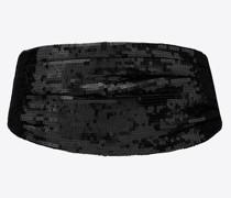 Smoking Kummerbund aus Seide mit Pailletten Schwarz