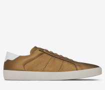 signature court classic sl/06 sneaker in bronze optischem weiß