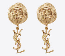 monogram brandebourg ohrringe in gold