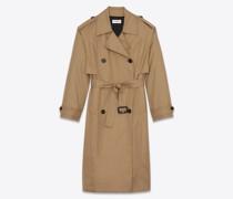 Oversize-Trenchcoat aus Baumwolle Beige