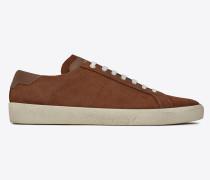 court classic sl/06 sneakers aus zigarettenfarbenem velours