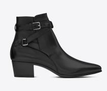 signatur blake jodhpur 40 ankle boot aus schwarzem leder