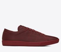 klassischer signature court sl/01 sneaker aus dunkelrotem leder