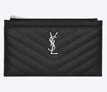Small Monogram Xbill Pouch In Quilted Grain De Poudre Embossed Leather Schwarz