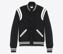 Teddy Jacket aus Wolle Schwarz