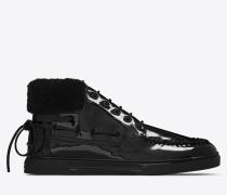 halbhoher joe bootssneaker in schwarz