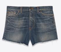 Baggy Shorts In  Denim Blau