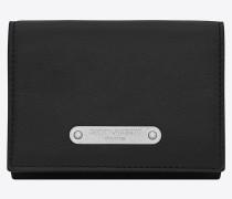 id kompaktes portemonnaie in schwarz