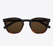 classic 28 sunglasses in black and havana red acetate frames with smoked lenses