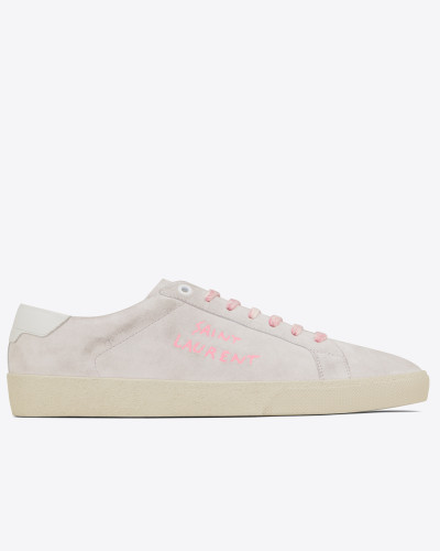 COURT CLASSIC SL/06 embroidered sneakers in suede
