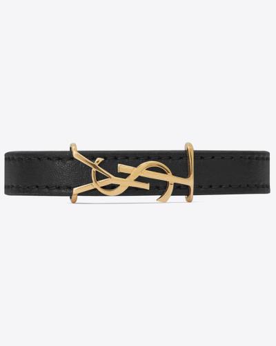OPYUM Armband aus Leder und Metall
