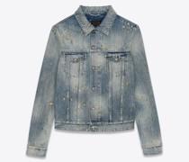 Jeansjacke Im Destroyed-Look aus Denim In Repaired Dirty Blue Blau